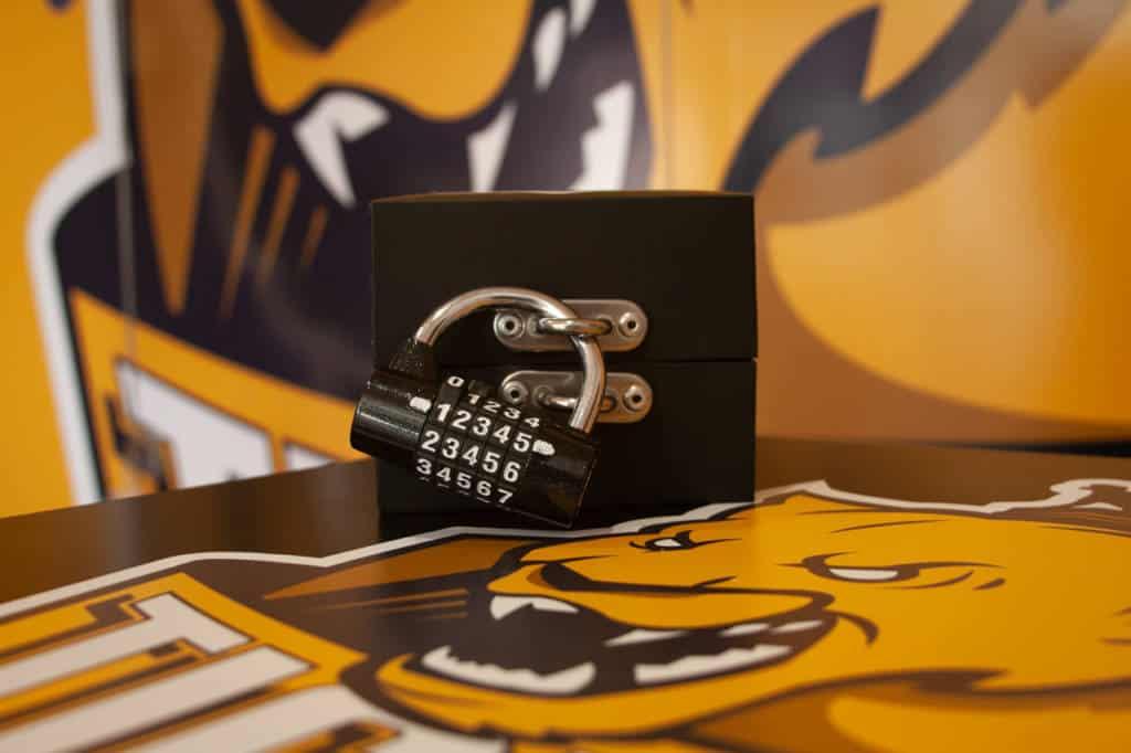 Uno de los juegos de candados que encontrarás en nuestra Escape Room de Bilbao